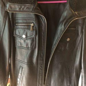 MK genuine leather jacket